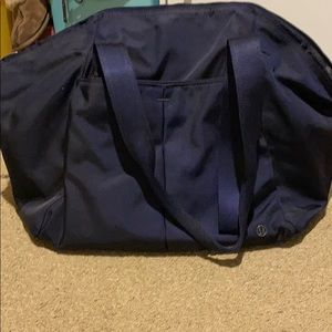 Lululemon navy workout bag